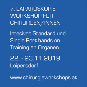7. LAPAROSKOPIE WORKSHOP FÜR CHIRURGEN/-INNEN | Intensives Standard und Single-Port hands-on Training an Organen